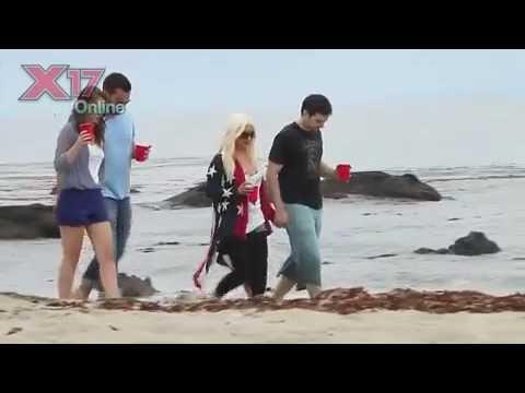 Christina Aguilera in Malibu Beach with Matthew Rutler