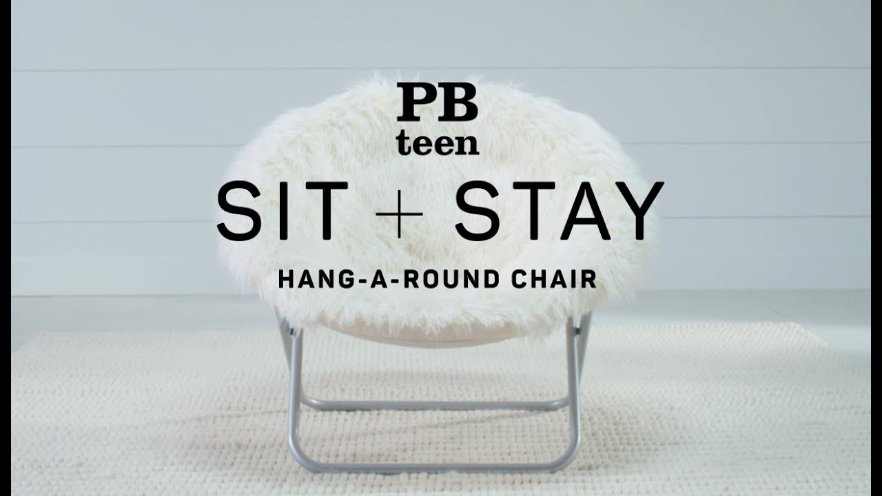 Sit + Stay   Hang A Round Chair | PBteen   YouTube
