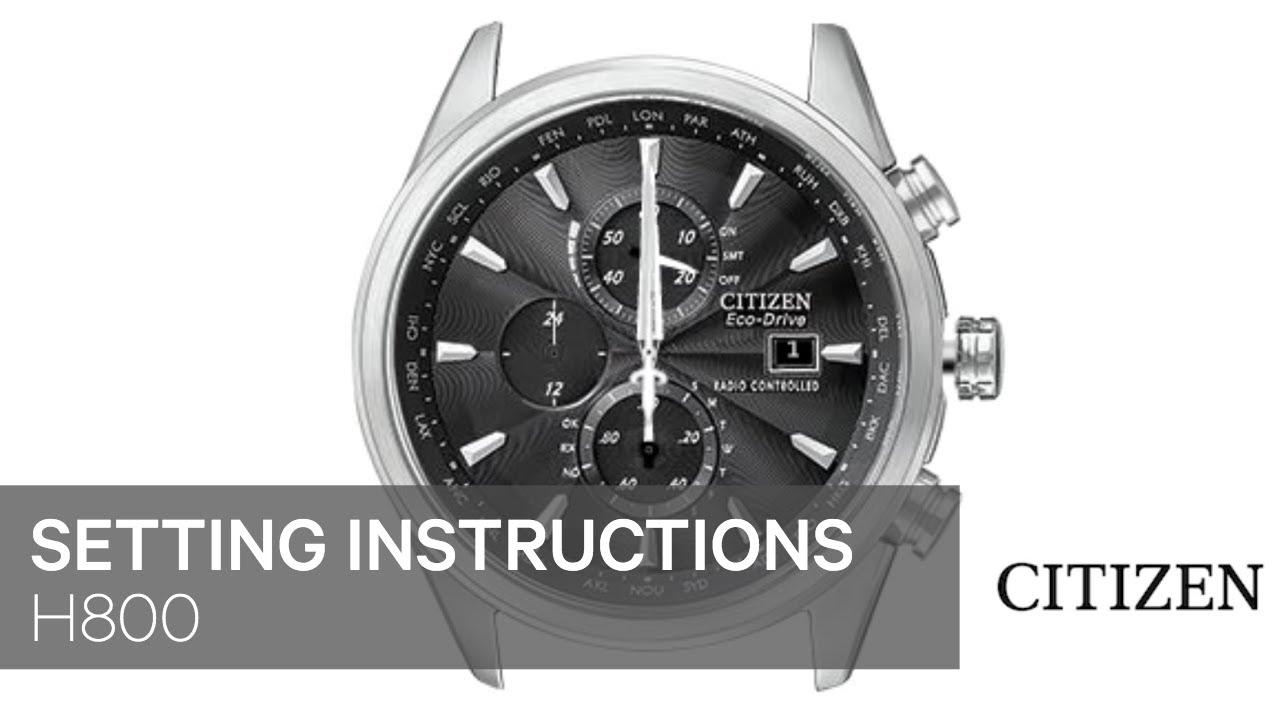 Citizen Watch Setting Instruction H800 Youtube