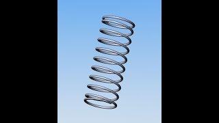 63 Урок Solidworks Как построить пружину с возможностью уменьшить ее по длинне при сборке
