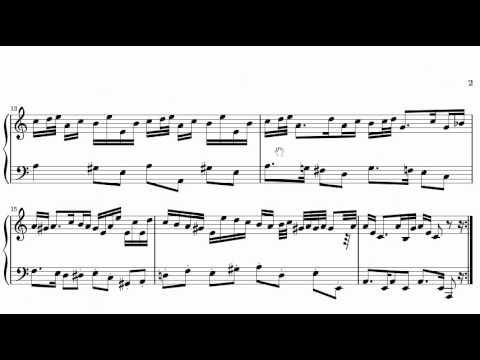 ABRSM Piano 2013-2014 Grade 5 A:3 A3 Handel Allemande In A Minor HWV 478 Sheet Music