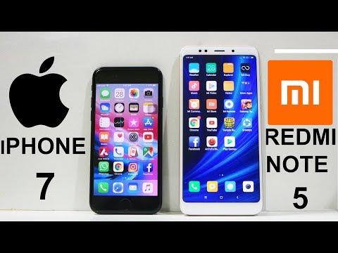 Redmi Note 5 Vs iPhone 7 Speed Test