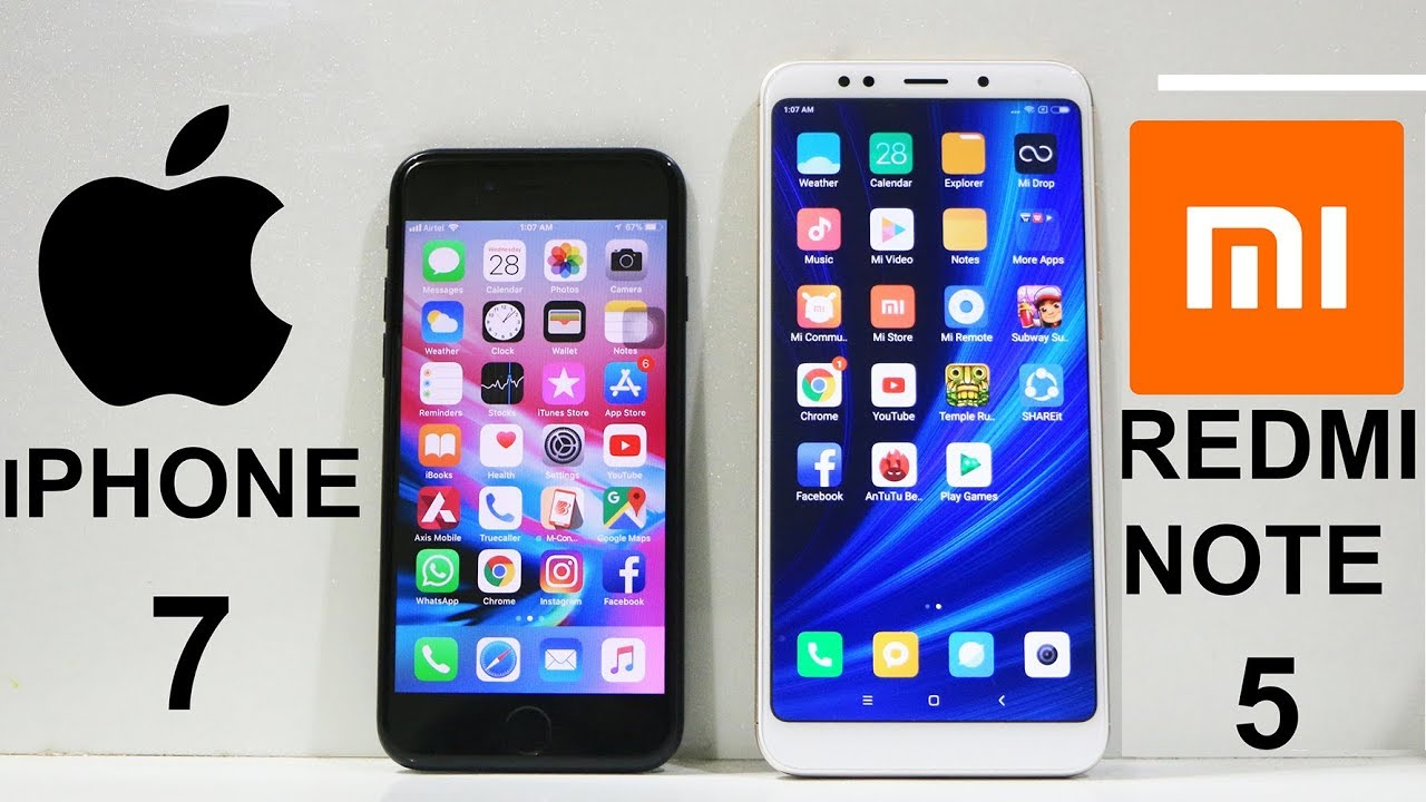 xiaomi redmi note 5 vs iphone 6s