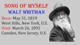 Summary of Song of Myself by Walt Whitman