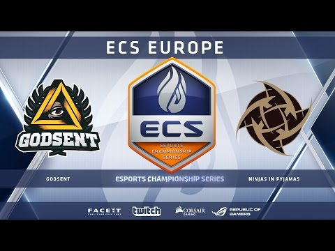 GODSENT vs NiP - Dust 2 (ECS Season 2 Europe)