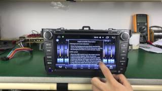 "Joying Aftermarket Android Car stereo 8"" Digital high sound quality amplifier for Toyota Corolla"