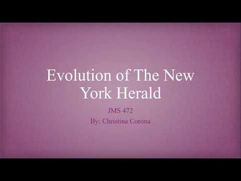 Evolution of The New York Herald