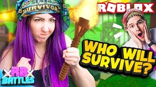 SURVIVE THIS ROBLOX TV SHOW AND WIN 10,000 ROBUX! (Roblox Battles)
