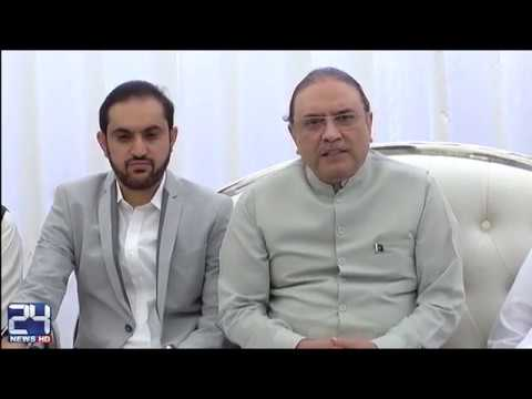 Former President Asif Ali Zardari News Conference In Hub
