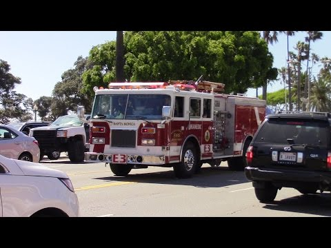 Santa Monica Fire Dept. Engine 3 Responding