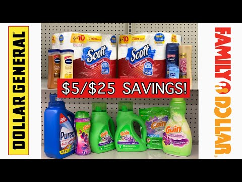 Dollar General & Family Dollar $5/$25 Savings! | Meek's Coupon Life