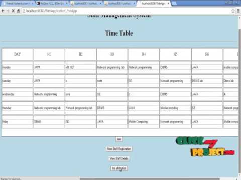 Final Year Projects 2015 Time Table Management - YouTube - project timetable