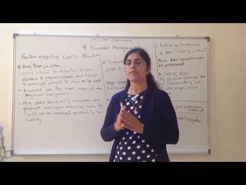 Chapter 9 Business Studies Class 12 Factors determining the Capital Structure