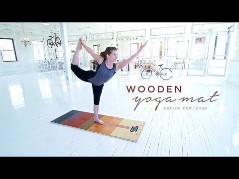 Wooden Yoga Mat by Carved