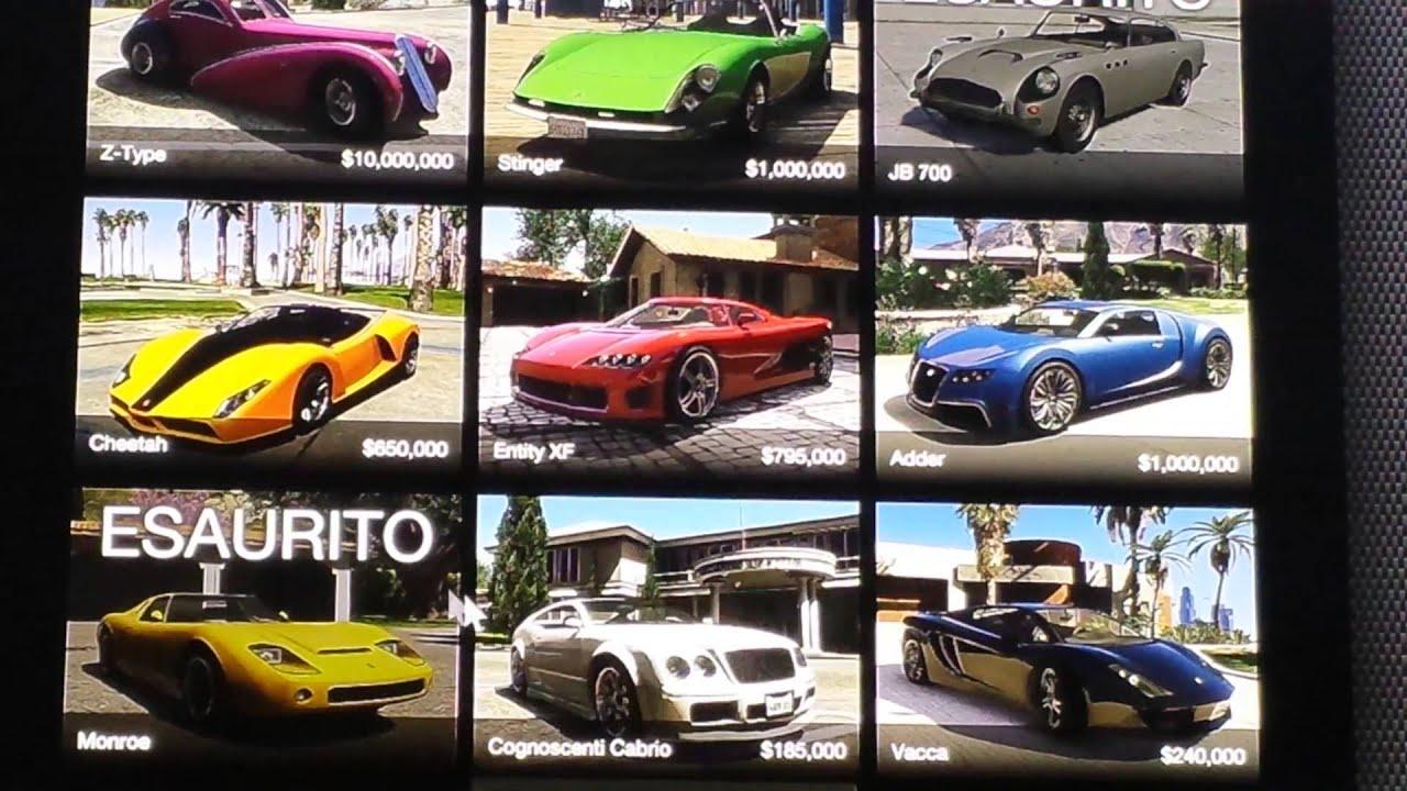 Gta 5 Alle Autos Liste