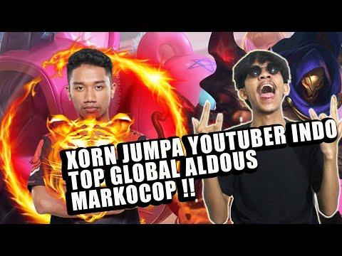 XORN JUMPA YOUTUBER INDO TOP GLOBAL ALDOUS MARKOCOP !! MOBILE LEGENDS