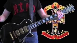 Guns N' Roses Paradise City Live Tokyo guitar cover w/ Gibson Les Paul Custom Black Beauty 1977