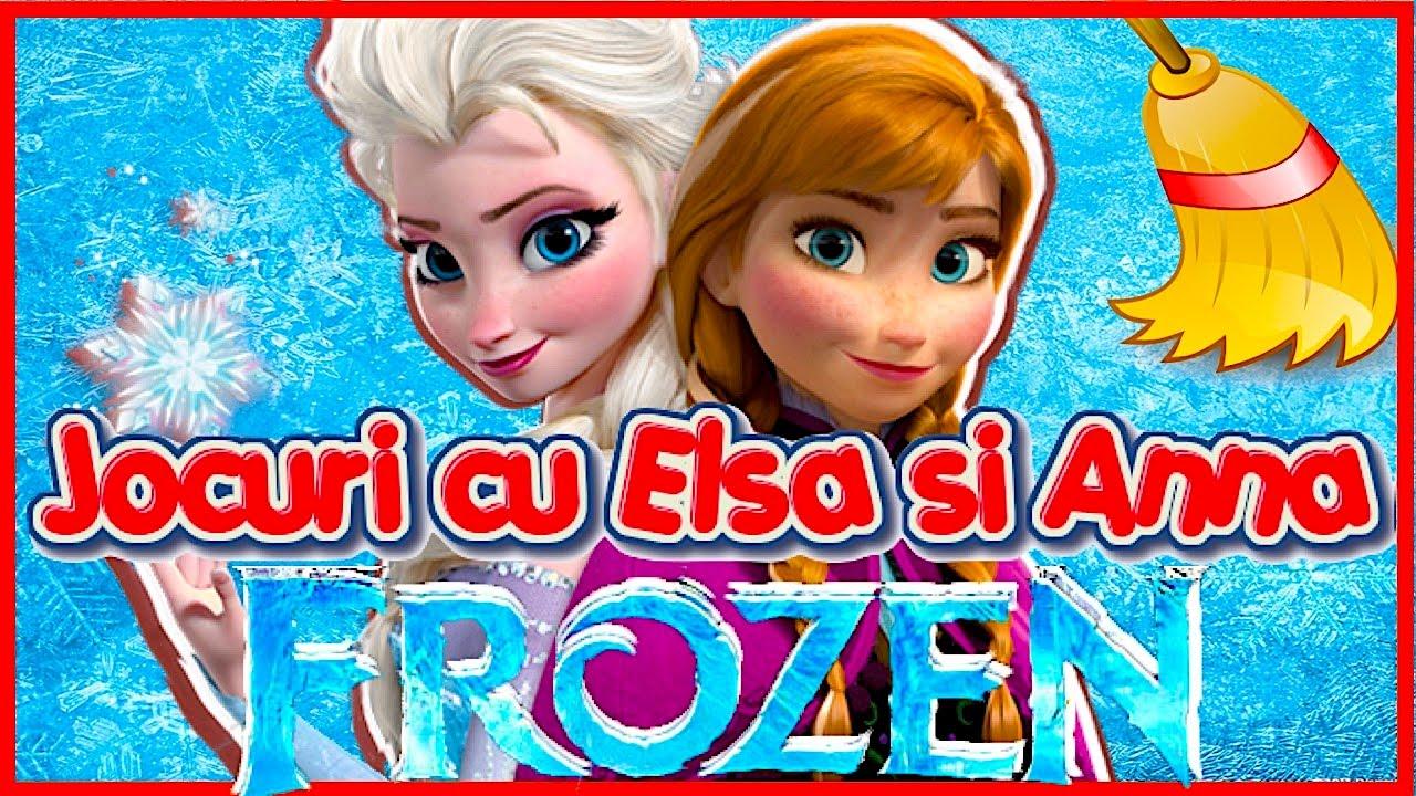 Jocuri Frozen Cu Elsa Si Anna De îmbrăcat și De Colorat Disney Online