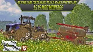 LS 15 Mod Montage New Holland T9670 Smart Trax + Scania R730 TOP LINE