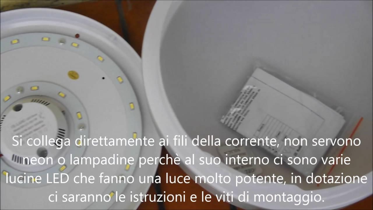 Plafoniere Con Circolina : Plafoniera circolare rotonda bianca a led luce forte 30 cm diametro