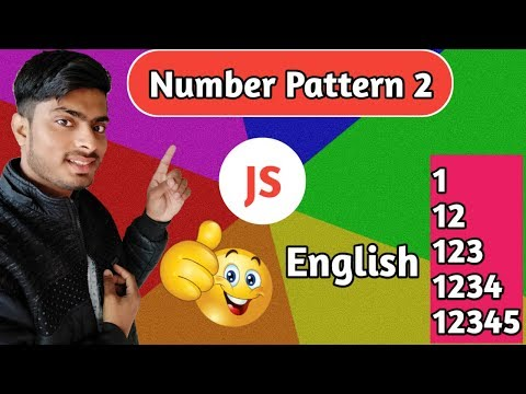 number pattern problem 2 | pattern in javascript 2019 in English thumbnail