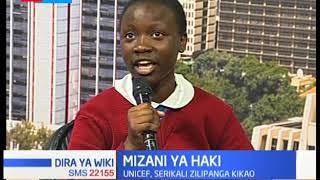 MIZANI YA WIKI: UNICEF and serikali ya Kenya zilipanga kikao cha haki