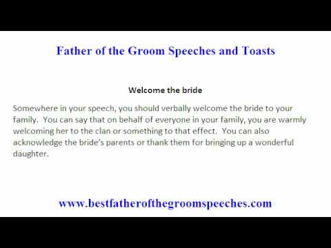 Father Of Groom Speech - Things To Avoid To Make An Outstanding
