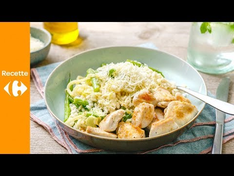 dés-de-poulet-et-risotto-au-fenouil