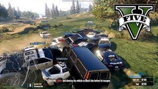 30 POLICJANTÓW vs 1 PODRUBA HOGATEGO - FiveM czyli GTA Online - Hogaty, Gary i Shepard #03