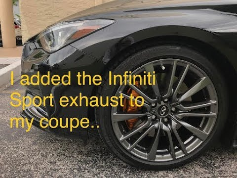 I Installed The Infiniti Q60 Sport Exhaust Youtube