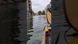 Regents Canal on the Music Boat - Camden Lock