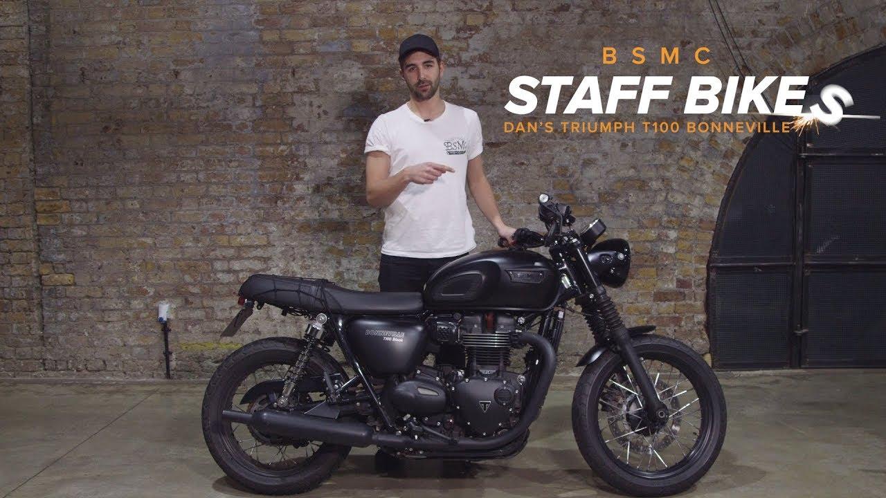 Staff Bikes Dans Triumph T100 Bonneville Youtube