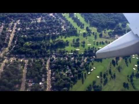 Landing at IAD Dulles International Airport Washington DC USA in Etihad Airways flight EY131