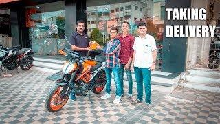 MY BIRTHDAY GIFT | KTM DUKE 390 | TAKING DELIVERY | VADODARA ,INDIA