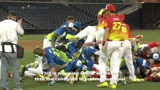 Post Game Dog Pile by Both Teams, PG All-American Game at Petco Park, 8/10/14