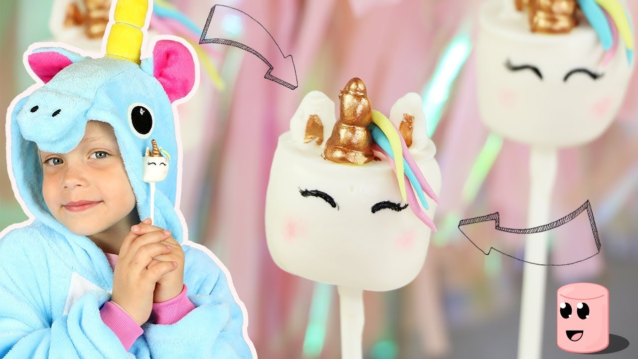 ♡• COMMENT TRANSFORMER DES CHAMALLOWS EN LICORNE ?! •♡