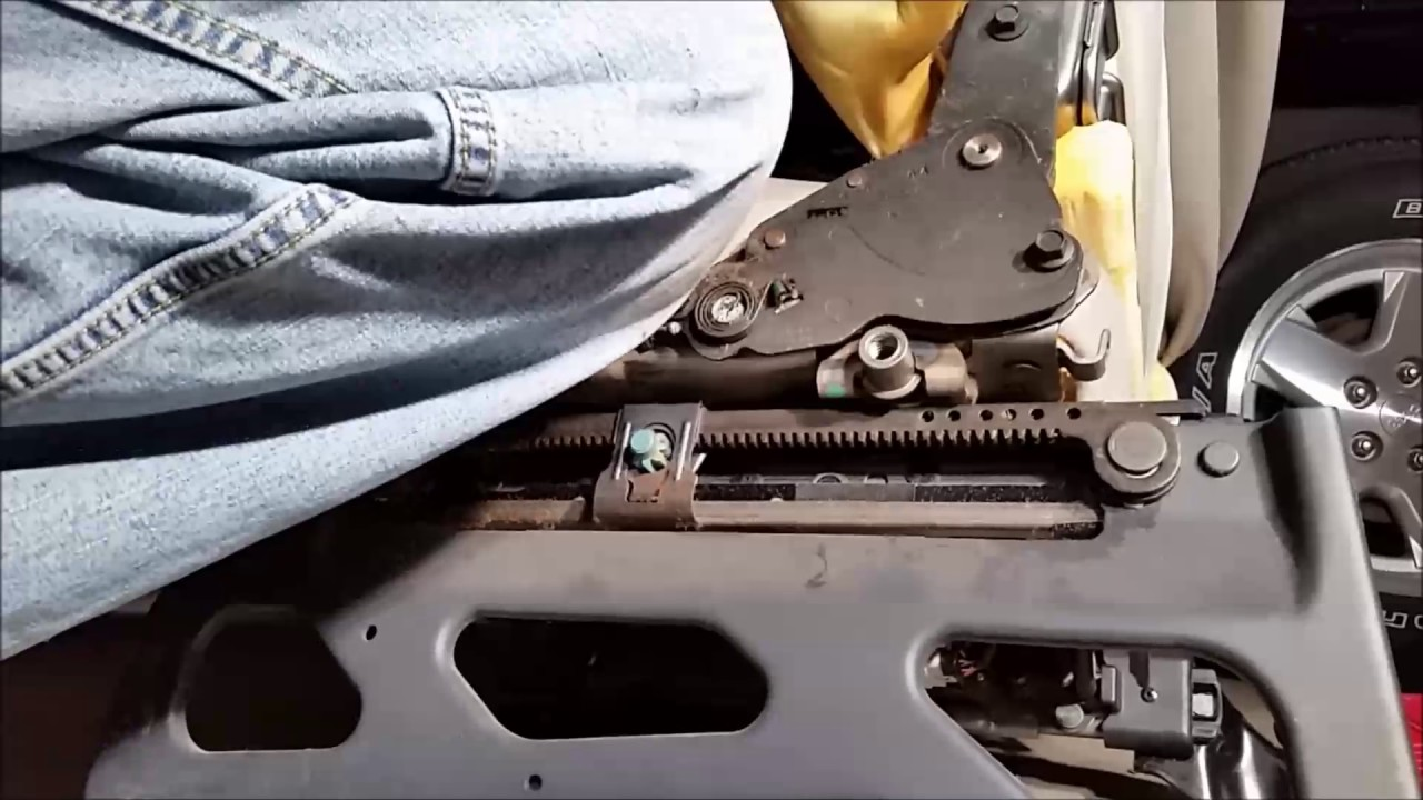 Jeep Liberty Limited Seat Recliner Mechanism Replacement - YouTube