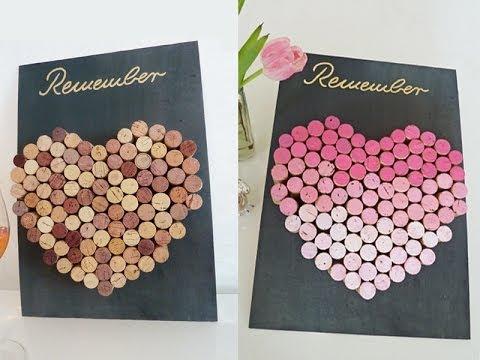 DIY coole Pinnwand aus Weinkorken einfach selbst machen