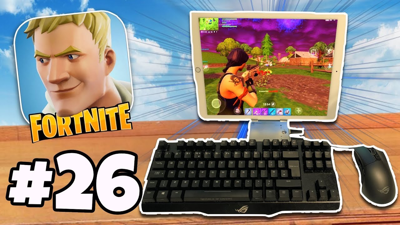 KEYBOARD & MOUSE On Fortnite Mobile iPad / iPhone | Fortnite Battle Royale  IOS/Android Part 26