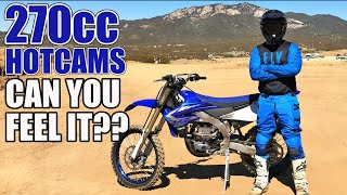 Yamaha YZ250FX vs 270cc + Hotcams - back to back comparison on MX track