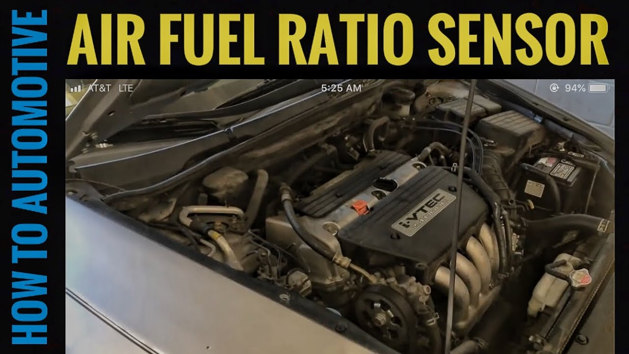 replace  air fuel ratio sensor     honda accord   engine youtube