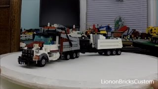 Custom LEGO Dump Truck With Trailer (2015 Edition Rebuild)