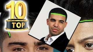 TOP 10 Hollywood Celebs with the lowest hairlines in the world!