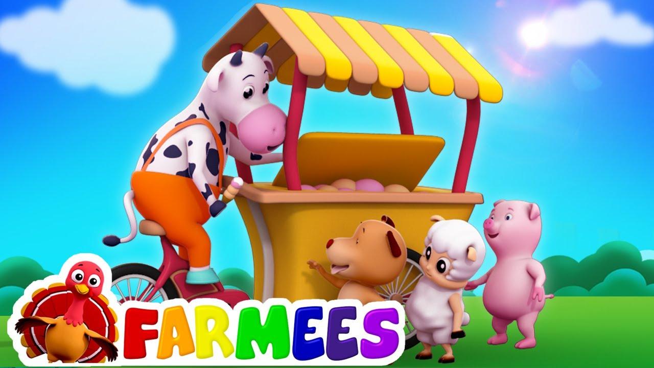 Canción helado | Videos para bebes | Educación | Farmees Español | Canciones Infantiles
