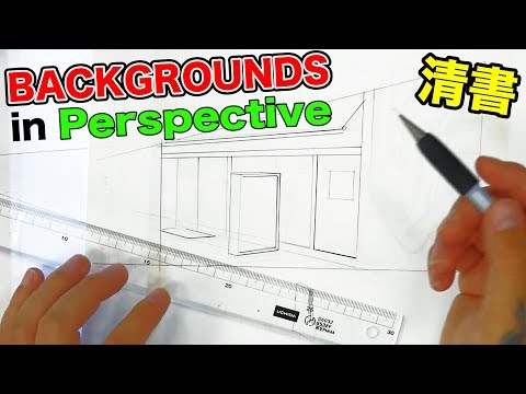 Manga BACKGROUNDS - How PROS do it!【Ep.2】