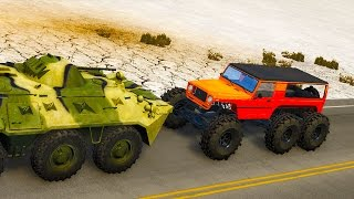 BeamNG Drive - BEAST HOPPER VS BTR!