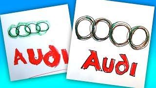 How to draw AUDI logo / AUTO LOGO car