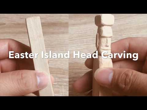 How to carve a miniature Moai Easter Island Head Statute.