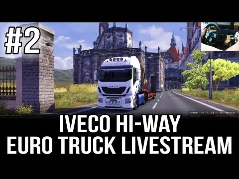 Iveco Hi-Way to Spain - Part #2 (ETS 2 Live-stream with TSM 3.5 and Desk Cam)