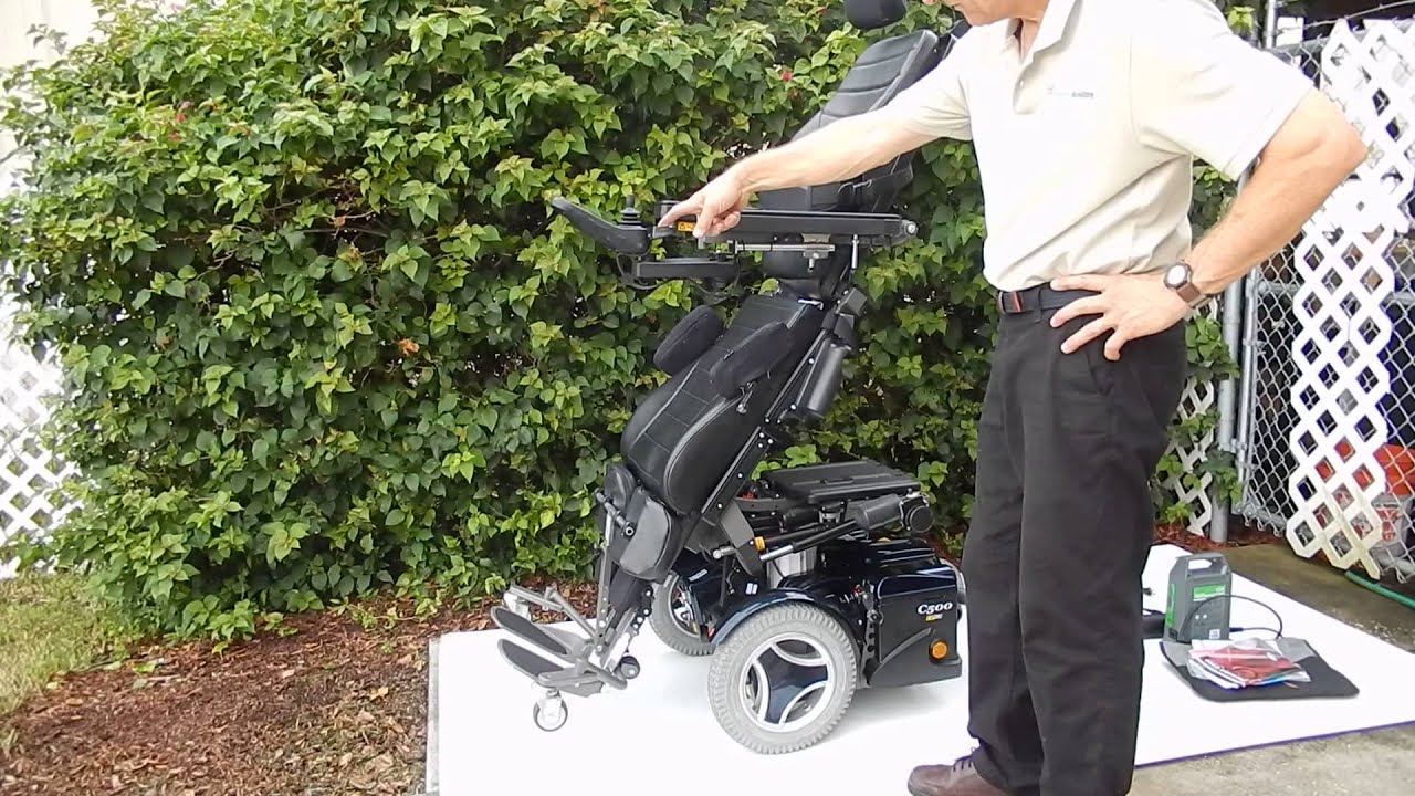 Permobil C500 VS Standing Wheel Chair - YouTube